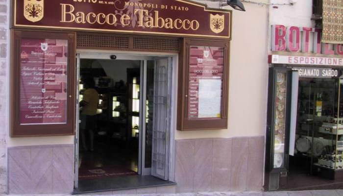 Negozi - Bacco e Tabacco